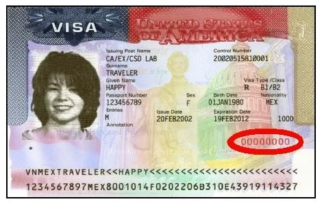 Where is the Visa Number on US Visa