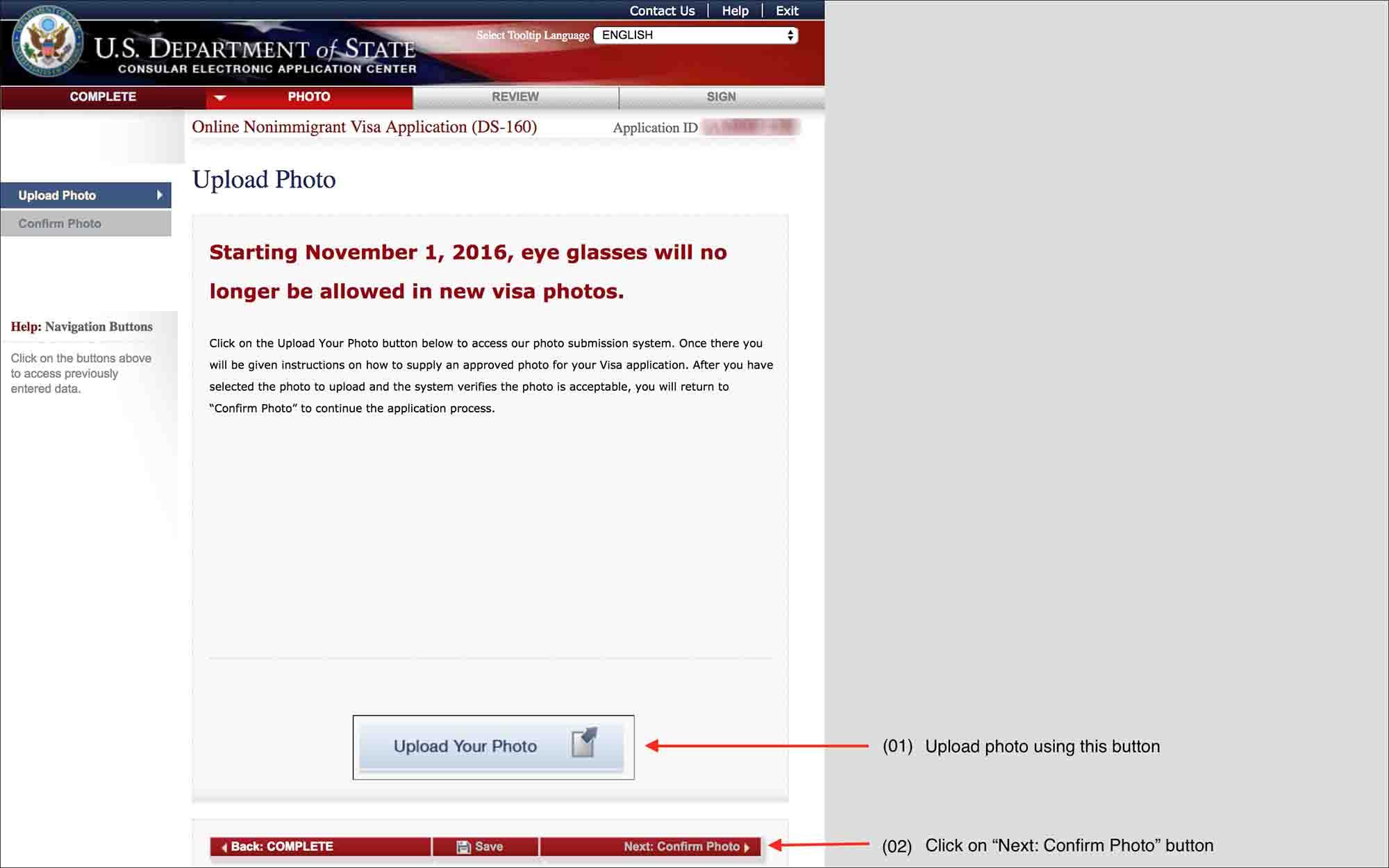 Ds 160 Form Online Visa Help