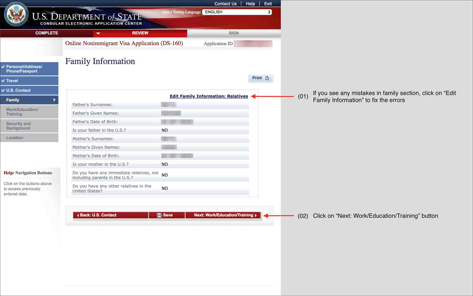 fill-DS-160-form-13.5 Online Application Form Ds on b2 sample, h4 sample, us visa application, passport application printable, sample filled, social media, family column, sample pdf blank, pdf printable,