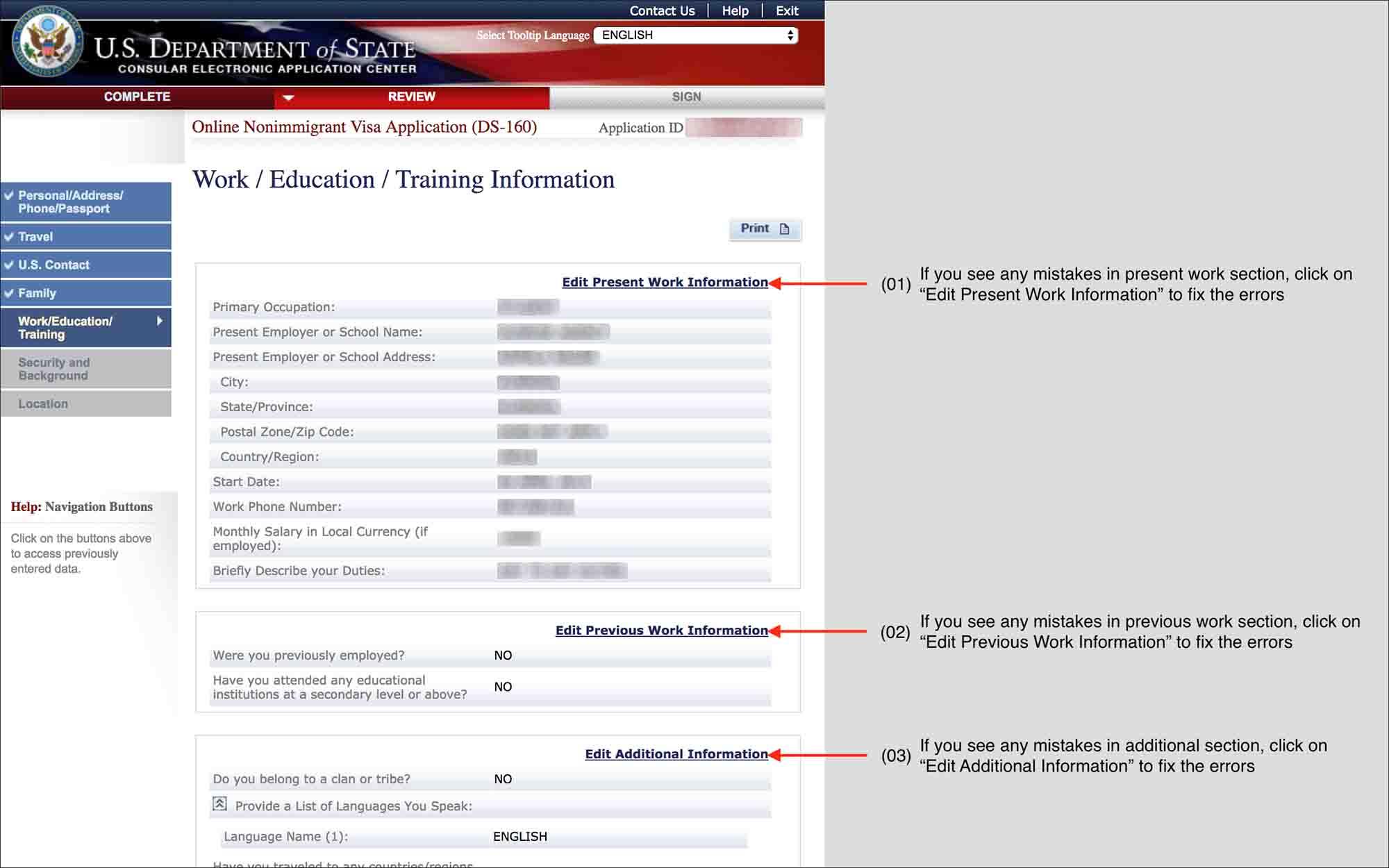 fill-DS-160-form-13.6 Visa Application Form Ds on i-9 application form, green card application form, i-130 application form, h1b application form, i-765 application form, b1 b2 application form, i-134 application form, i-94 application form, uscis application form,