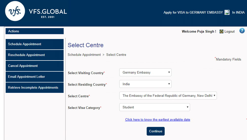 Schedule Germany visa Appointment